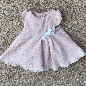 3-6M girls light pink dress.
